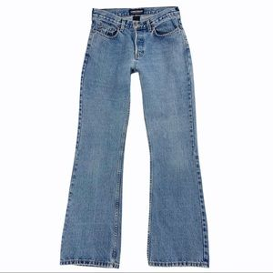 London Button Fly 100% Cotton Flare Jeans